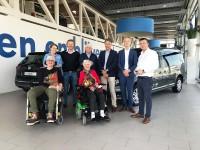 Stichting ALS op de weg is in Amersfoort bij aflevering Volkswagen Caddy